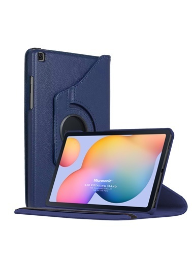 "Microsonic Samsung Galaxy Tab S6 Lite 10.4"" P610 Kılıf 360 Rotating Stand Deri Lacivert"